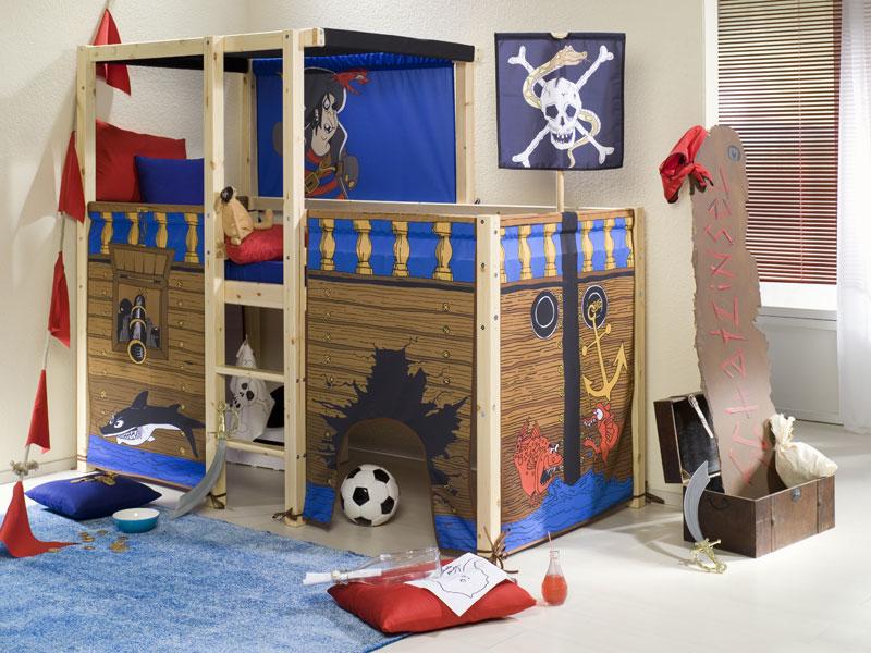 Themenbett piratenbett moebel insider - Piratenbett kinderzimmer ...
