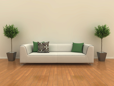 Sofa with plants © David Humphrey-Fotolia.com