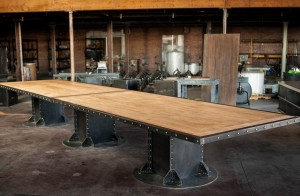 I Beam Maple Conference Table C | Vintage Industriala